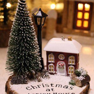Personalised Christmas Cottage Scene
